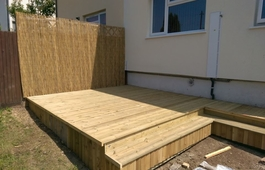 Garden decking in bristol