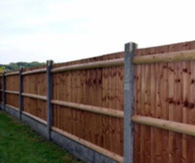 Sample fence made of quality timber